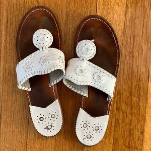 White Jack Rogers Sandals